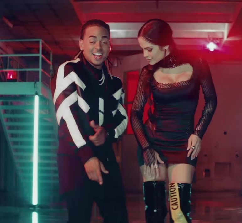 "Black Long Sleeve Tight Mini Dress Worn by Natti Natasha in ""Criminal"" ft. Ozuna Official Music Video - Female Fashion"