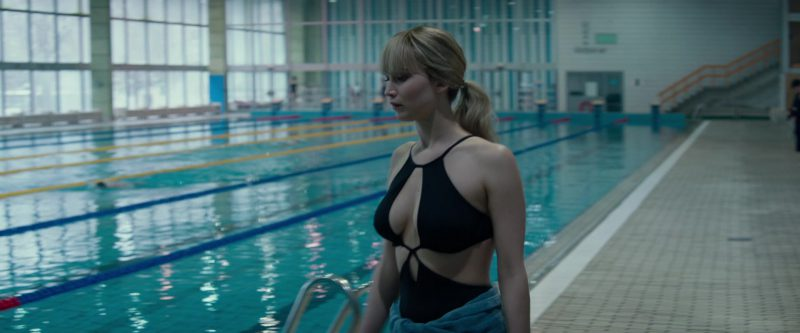 Black One-Piece Swimsuit Worn by Jennifer Lawrence in Red Sparrow Movie