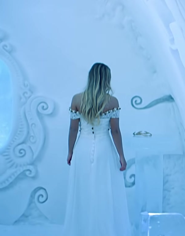"Bridal Dress Worn by Model in ""Hielo"" by Daddy Yankee Official Music Video"