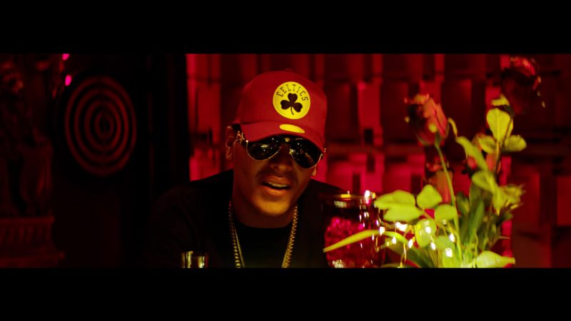 Celtics Cap in Te Bote Remix by Casper, Nio García, Darell, Nicky Jam, Bad Bunny, Ozuna - Male Fashion Outfits and Products