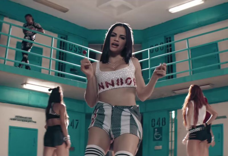 "Crop Top and Shorts Worn by Natti Natasha in ""Criminal"" ft. Ozuna Official Music Video"