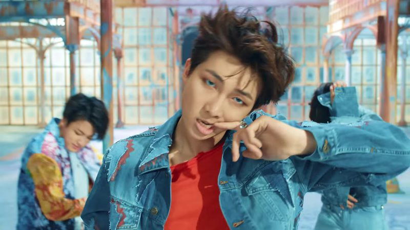 Denim Jacket in BTS (방탄소년단) 'FAKE LOVE' Music Video