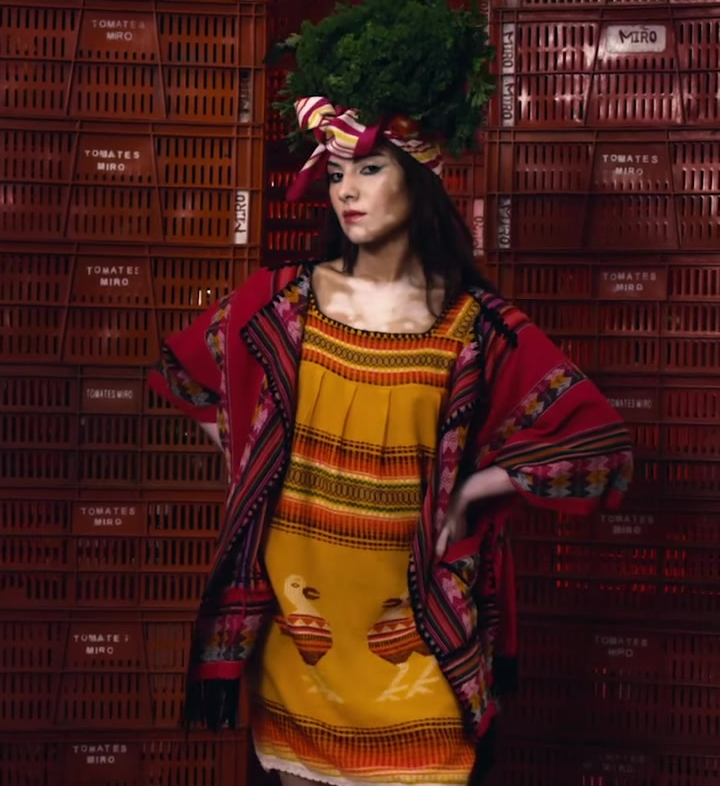 Ethnic Outfit Worn by Model in Mi Gente by J Balvin, Willy William (Official Music Video)