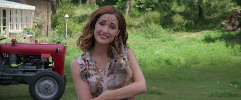 "Floral Print Blouse Worn by Rose Byrne in ""Peter Rabbit"" Movie"