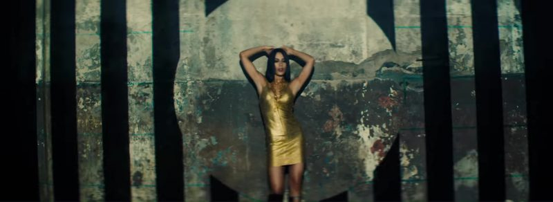 Gold Short Dress Worn by Model in Move To Miami by Enrique Iglesias Music Video