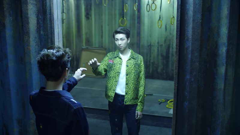 Green Jacket in BTS (방탄소년단) 'FAKE LOVE' Music Video