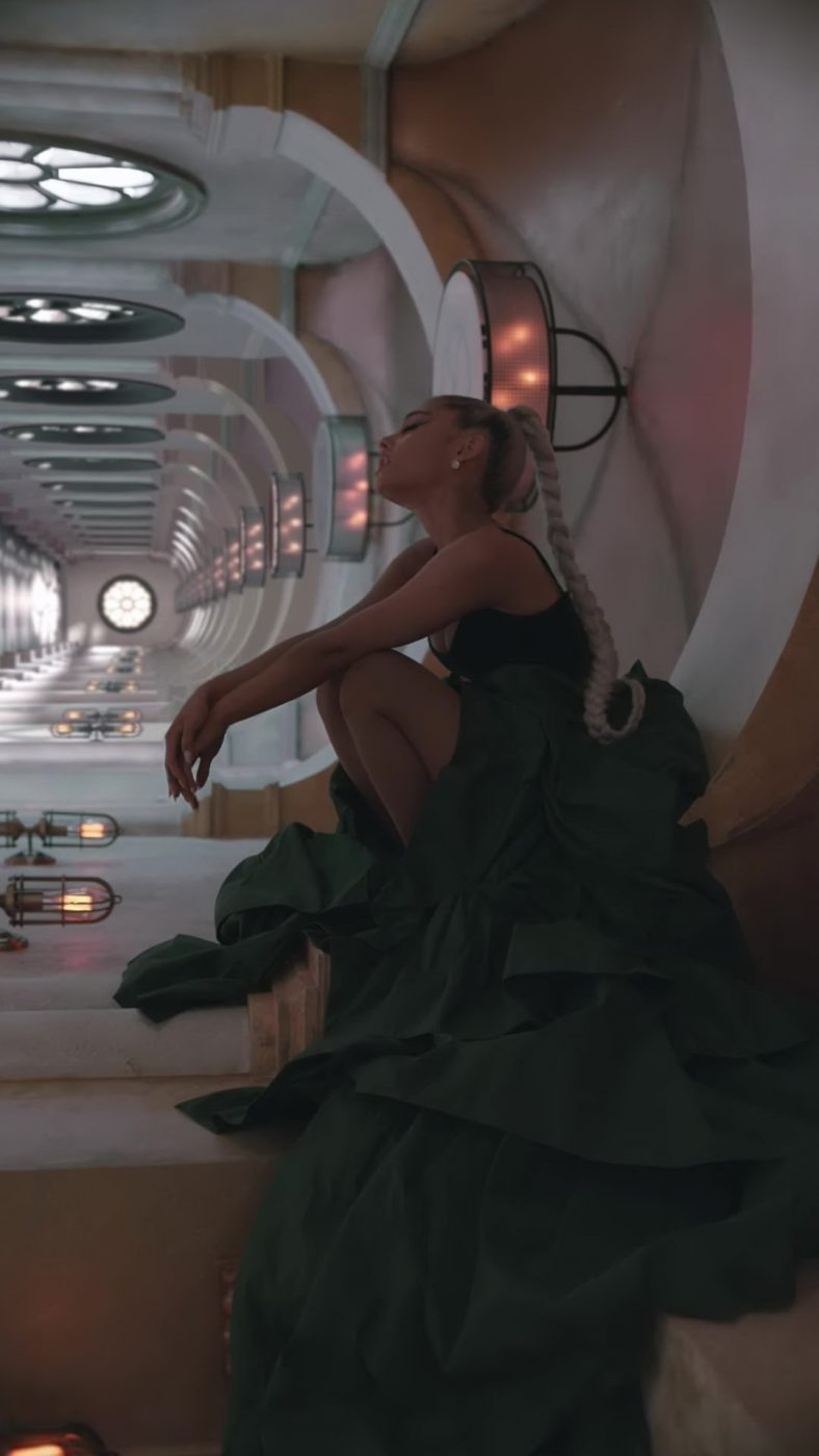 "Green Skirt and Black Top Worn by Ariana Grande in ""No Tears Left To Cry"" Music Video - Female Fashion"
