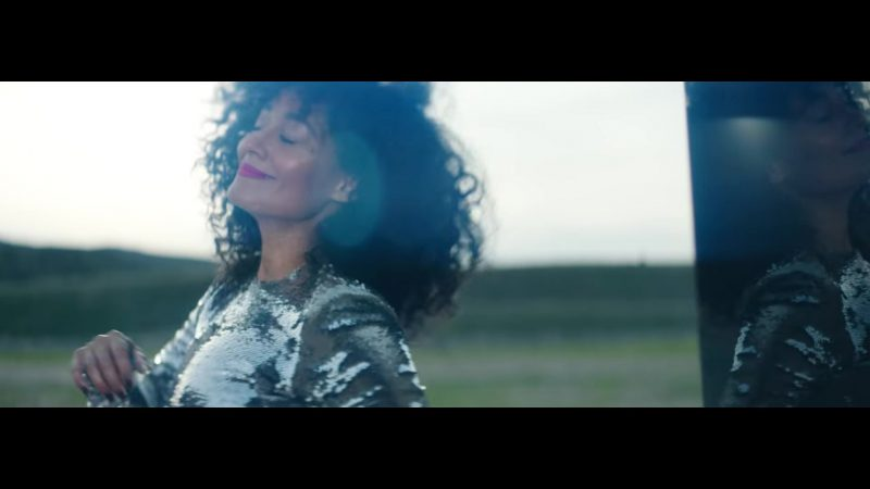 """Fashion Trends 2021: Sequin/Glitter Jumpsuit in """"Nice For What"""" Music Video by Drake"""