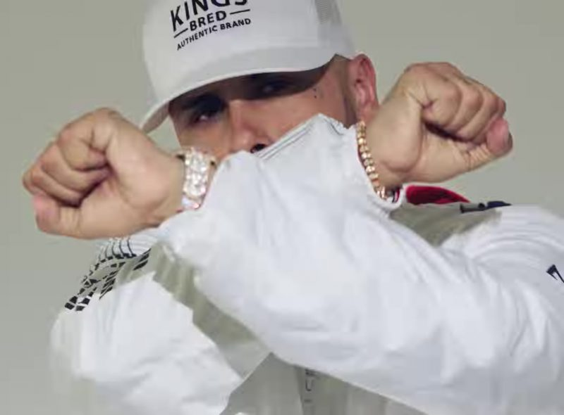 KINGS BRED White Cap Worn by Nicky Jam in X (EQUIS) ft. J Balvin Official Music Video - Male Fashion