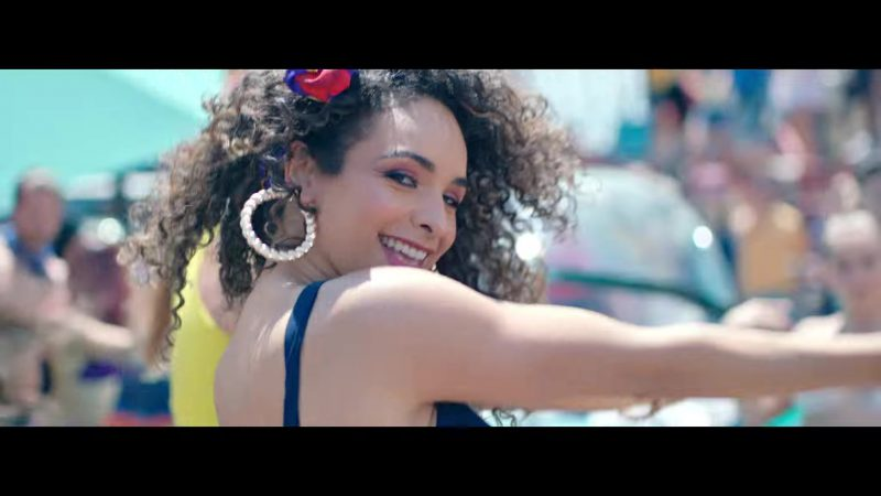 """Large Round Earrings Worn by Models in """"Única"""" by Ozuna Music Video"""