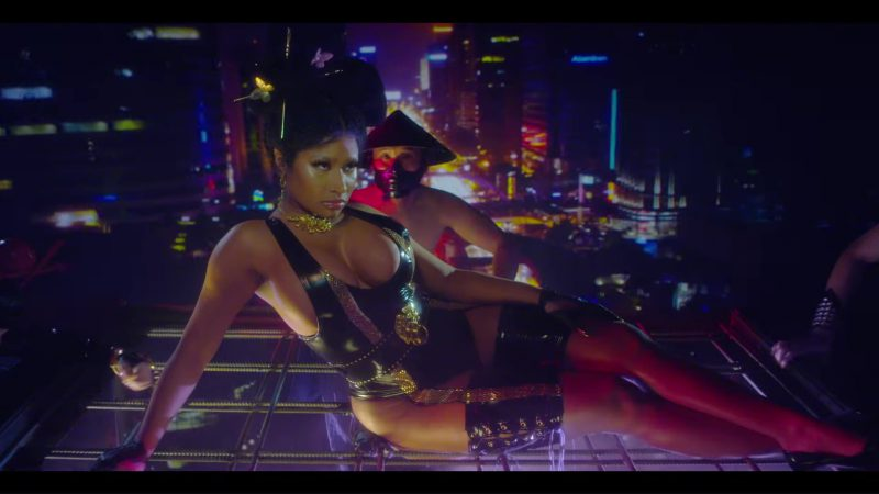 "Leather Bodysuit Worn by Nicki Minaj in ""Chun-Li"" Music Video - Youtube Outfits and Products"