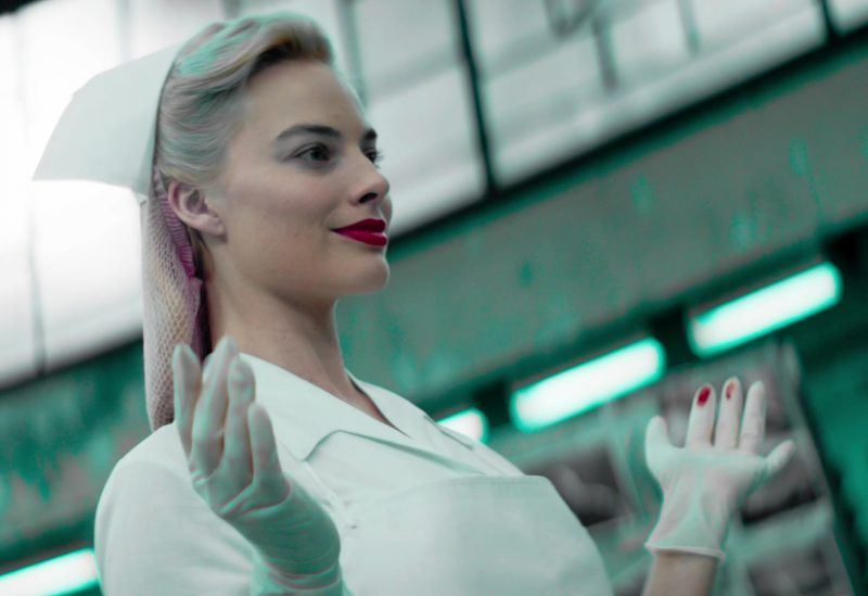 Nurse Outfit Worn by Margot Robbie in Terminal Movie