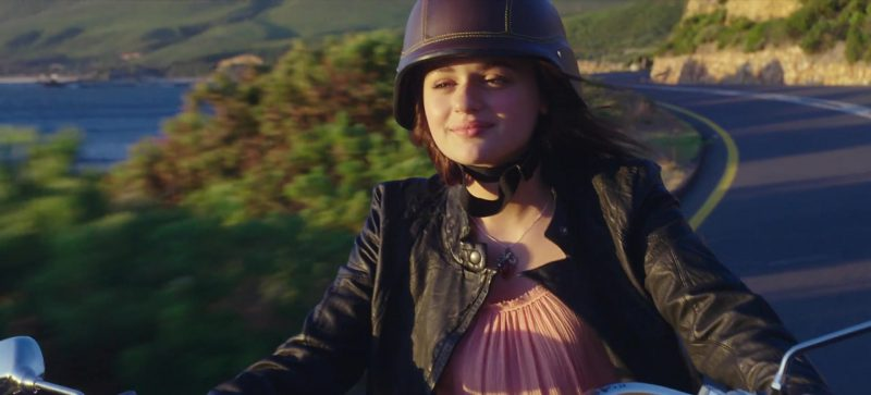 Pink Blouse and Leather Biker Jacket Worn by Joey King in The Kissing Booth Movie - Female Fashion