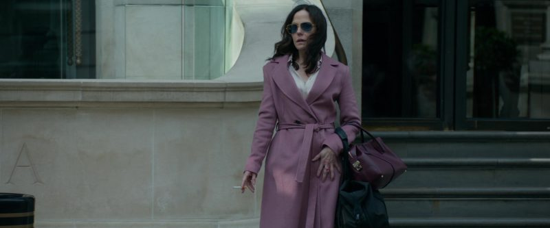 Pink Coat and Sunglasses Worn by Mary-Louise Parker in Red Sparrow Movie