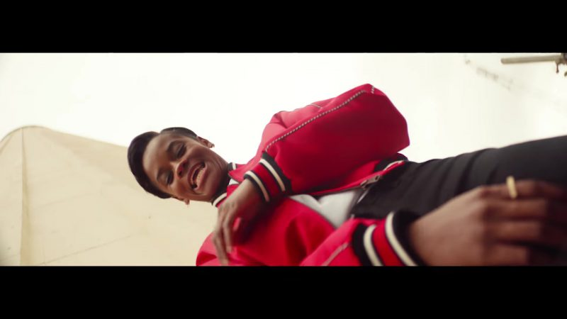 """Red Bomber Jacket Worn by Letitia Wright in """"Nice For What"""" Music Video by Drake - Female Fashion Outfits and Products"""