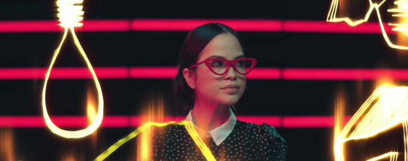 "Red Cat-Eye Frames (Glasses) Worn by Natti Natasha in ""Criminal"" ft. Ozuna Official Music Video - Female Fashion Outfits and Products"