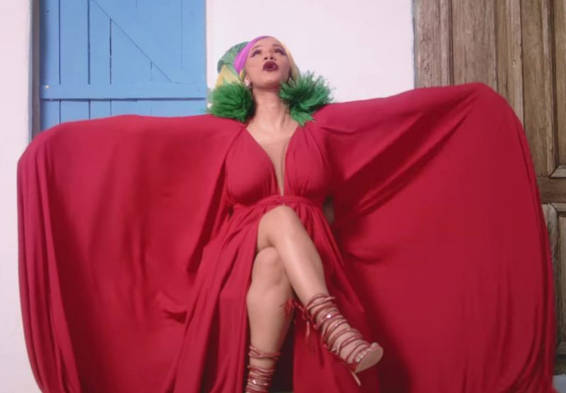 "Red Dress Worn by Cardi B in ""I Like It"" Music Video"