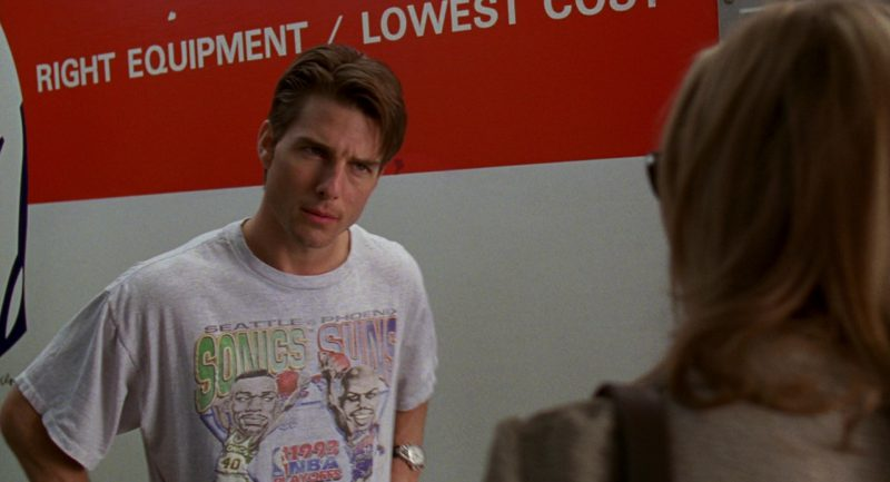 Seattle Supersonics Vs. Phoenix Suns 1993 NBA T-Shirt Worn by Tom Cruise in Jerry Maguire Movie
