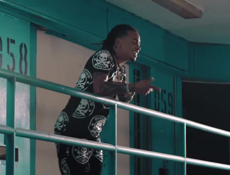 "Skull T-Shirt Worn by Ozuna in ""Criminal"" ft. Natti Natasha Official Music Video"