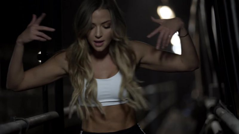 "Sports Bra Worn by Erika Costell in ""Chitty Bang"" Music Video"