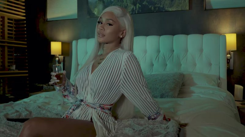 "Striped Shirtdress Worn by Saweetie in ""Icy Grl"" Official Music Video"