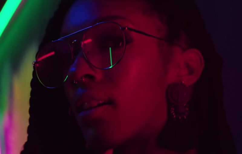 Sunglasses (Red Lenses) Worn by Model in Mi Gente by J Balvin, Willy William (Official Music Video)