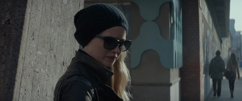 Sunglasses and Beanie Hat Worn by Jennifer Lawrence in Red Sparrow - Movie Outfits and Products