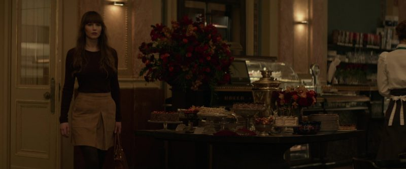 Sweater and Skirt Worn by Jennifer Lawrence in Red Sparrow - Movie Outfits and Products
