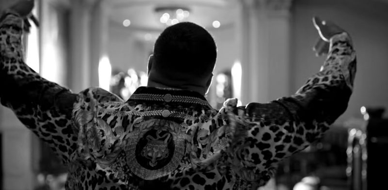 """Tiger Jacket Worn by DJ Khaled in """"Dinero"""" by Jennifer Lopez Music Video - Male Fashion Outfits and Products"""