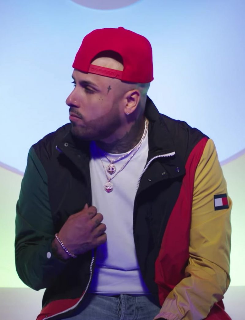 Tommy Hilfiger Jacket and Red Cap Worn by Nicky Jam in X (EQUIS) ft. J Balvin Official Music Video - Male Fashion