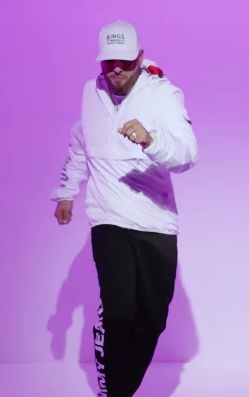 Tommy Jeans White Hoodie, Black Pants and KINGS BRED Cap Worn by Nicky Jam in X (EQUIS) ft. J Balvin Official Music Video - Male Fashion
