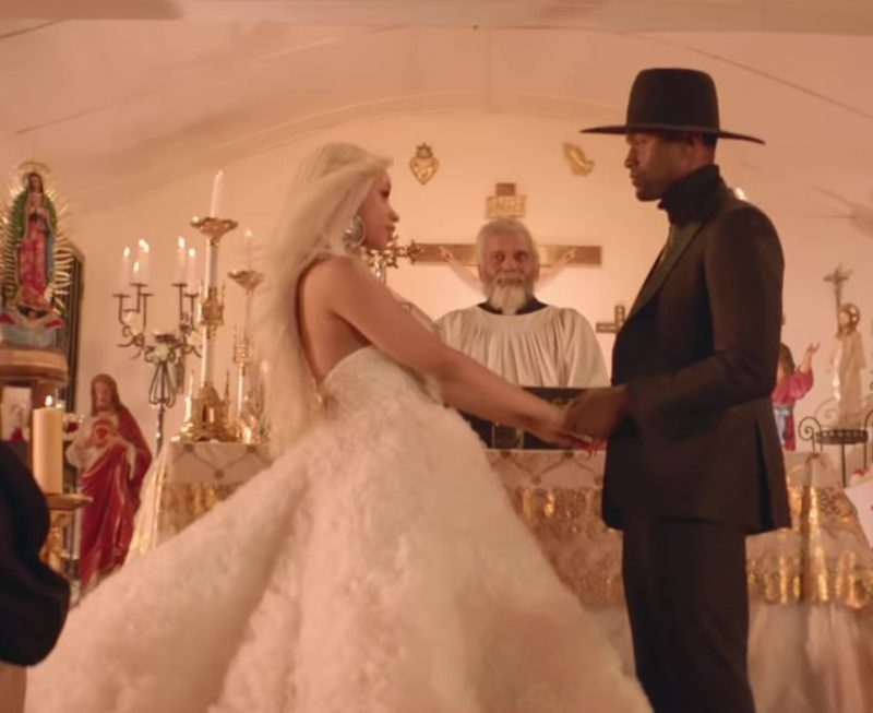 "Wedding Dress Worn by Cardi B in ""Be Careful"" Official Music Video"