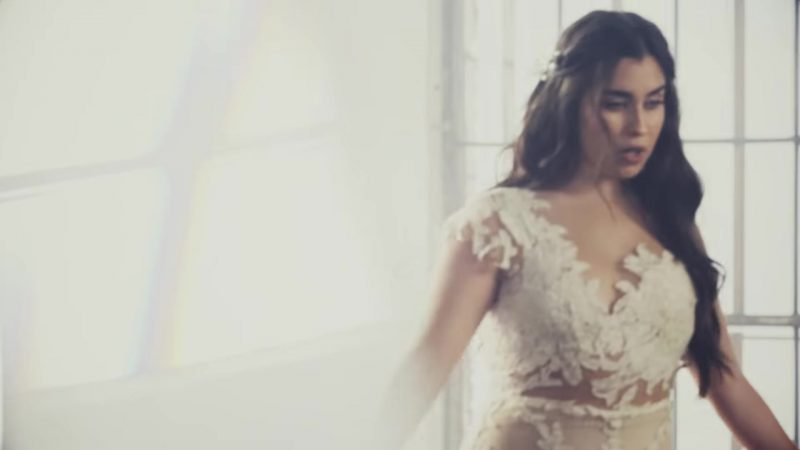 "White Dress Worn by Lauren Jauregui in ""Don't Say You Love Me"" by Fifth Harmony Music Video - Female Celebrity Style"