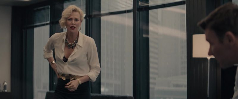 """White Shirt Worn by Charlize Theron in """"Gringo"""" - Movie Outfits and Products"""
