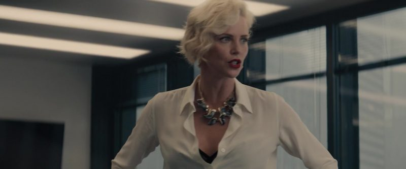 "White Shirt Worn by Charlize Theron in ""Gringo"" Movie"