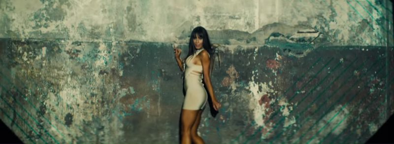 White Short Dress Worn by Model in Move To Miami by Enrique Iglesias Music Video - Female Fashion Outfits and Products