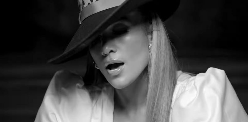 "Wide Brim Hat Worn by Jennifer Lopez in ""Dinero"" Music Video"