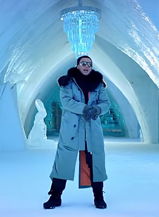 Puffer Coat Worn by Daddy Yankee in Hielo Official Music Video