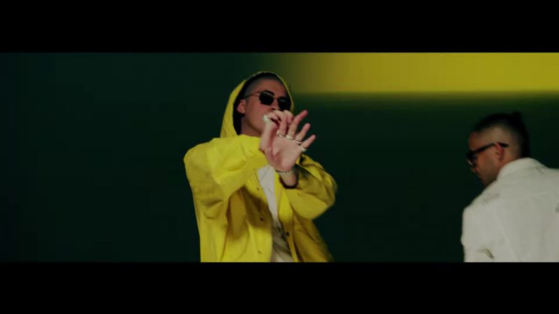 Yellow Jacket and Square Sunglasses in Te Bote Remix by Casper, Nio García, Darell, Nicky Jam, Bad Bunny, Ozuna Music Video - Male Fashion Outfits and Products
