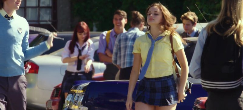 Yellow Shirt And Blue Tartan Skirt Worn by Joey King in The Kissing Booth Movie