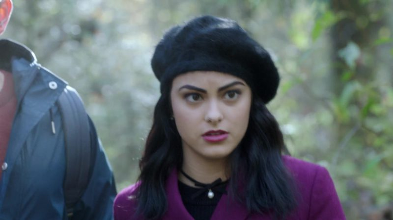 "Female  Celebrity Style:  Black Beret Worn by Camila Mendes in ""Riverdale"" TV Show"
