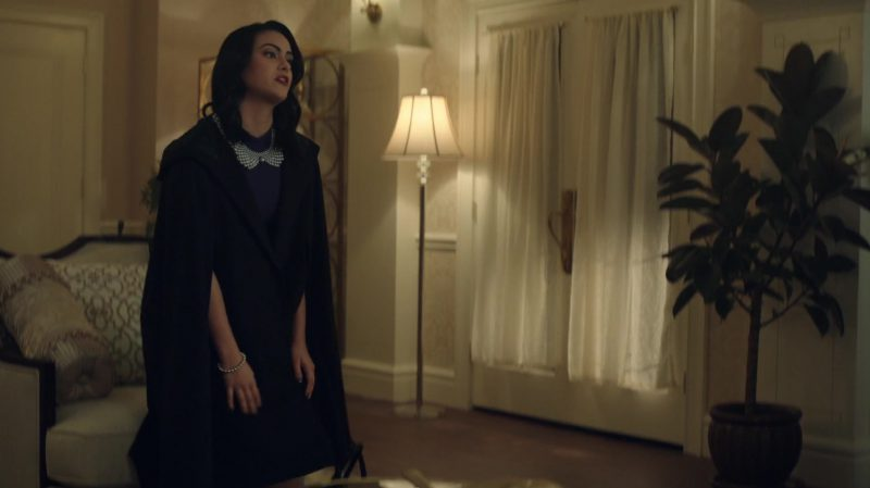 "Black Cape Worn by Camila Mendes in ""Riverdale"" - TV Show Outfits and Products"