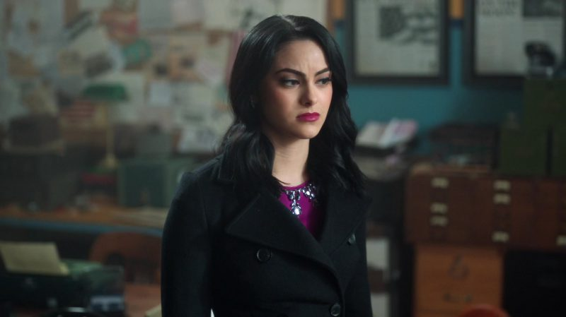 """Fashion Trends 2021: Black Coat Worn by Camila Mendes in """"Riverdale"""""""