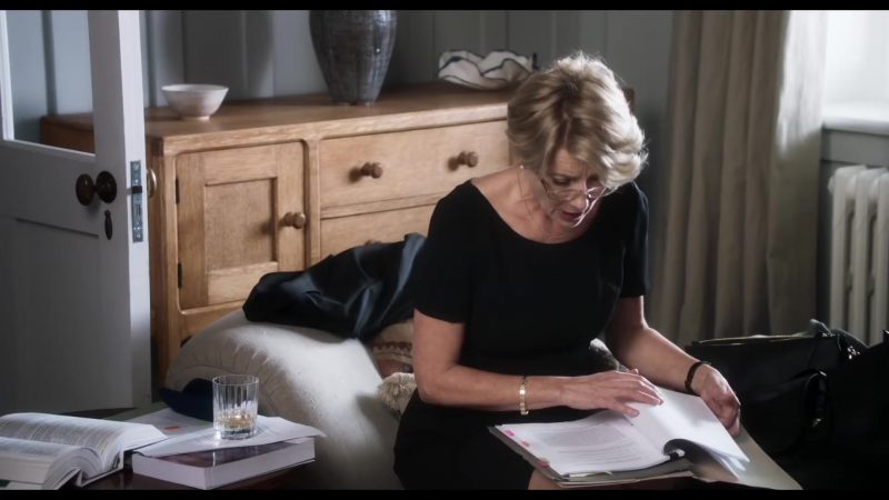 """Fashion Trends 2021: Black Dress Worn by Emma Thompson in """"The Children Act"""""""