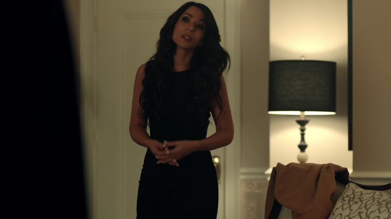 """Black Dress Worn by Marisol Nichols in """"Riverdale"""" TV Show - Female Fashion Outfits and Products"""