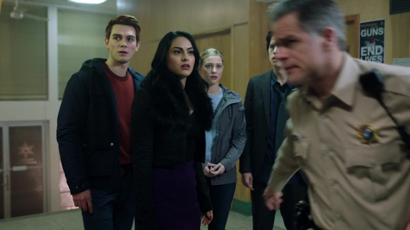 "Black Jacket With Fur Collar Worn by Camila Mendes in ""Riverdale"" TV Show"