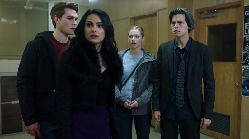 "Black Jacket With Fur Collar Worn by Camila Mendes in ""Riverdale"" - TV Show Outfits and Products"