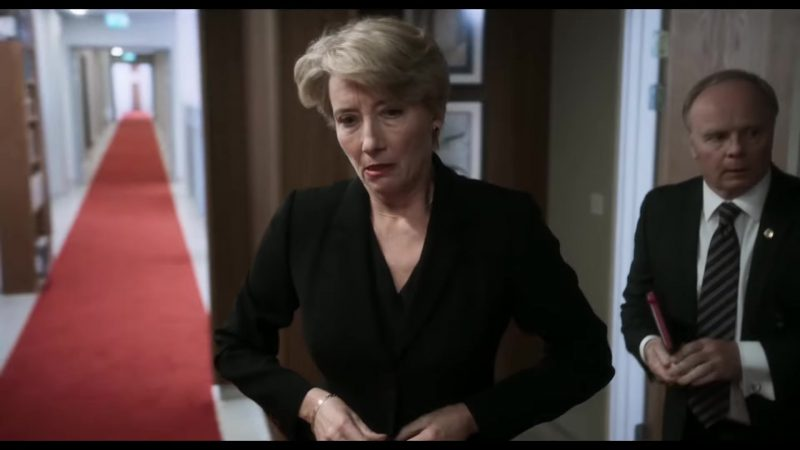 """Black Jacket Worn by Emma Thompson in """"The Children Act"""" Movie - Female Fashion Outfits and Products"""