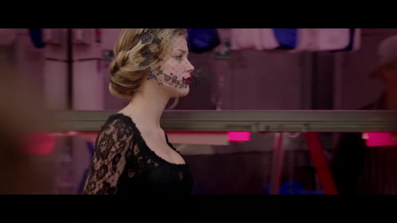 """Black Lace Dress Worn by Amber Heard in """"London Fields"""" Movie - Female Fashion Outfits and Products"""