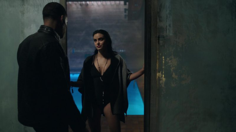 """Fashion Trends 2021: Black One-Piece Swimsuit Worn by Camila Mendes in """"Riverdale"""""""